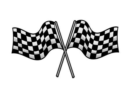 crossed racing flag Illustration