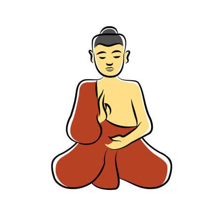 buddhist monk: buddhist monk meditate