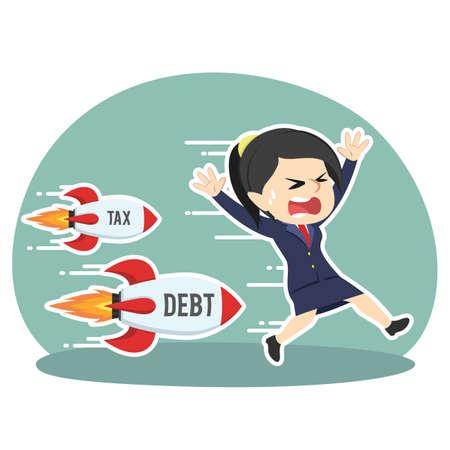 Businesswoman chased tax debt rocket