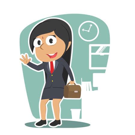indian businesswoman Illustration