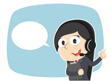 Weiblicher Betreiber mit Callout Standard-Bild - 93257400