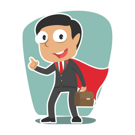 Super indian businessman illustration vector