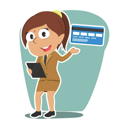 Indian businesswoman with his credit card royalty free cliparts indian businesswoman with his credit card stock vector 93057316 reheart Images