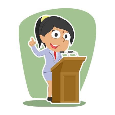 Indische Geschäftsfrau , die Rede gibt