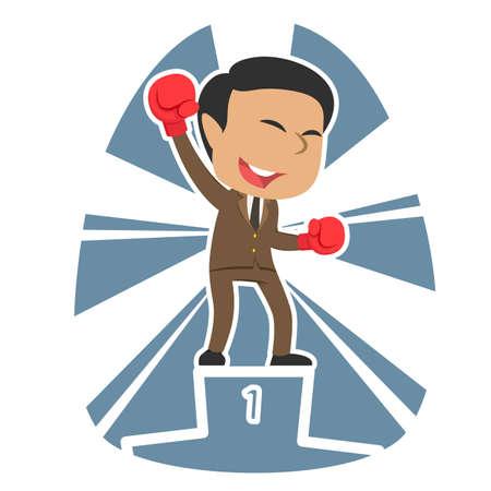 Indian businessman boxer champion.