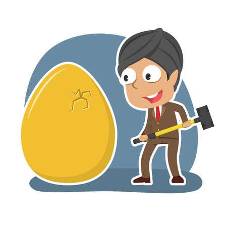 Indian businessman want to break his golden eggs
