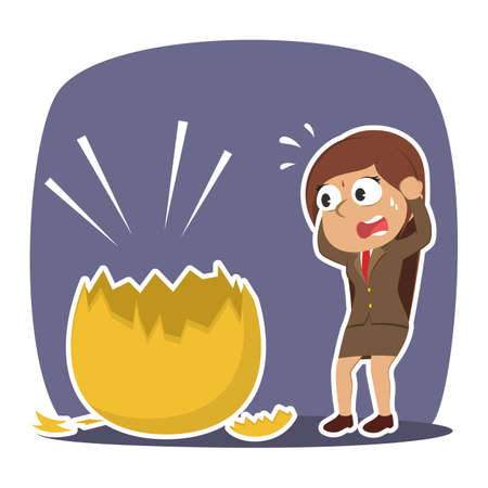 Indian businesswoman shocked when see her golden egg broken