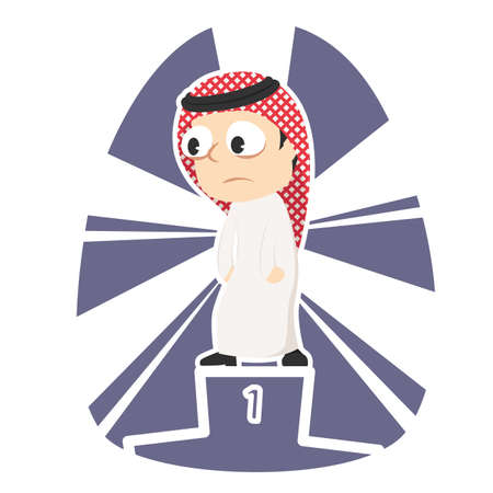 Tired arabian businessman dont care about be the champion
