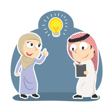Arabian businesswoman got idea when her partner writing report