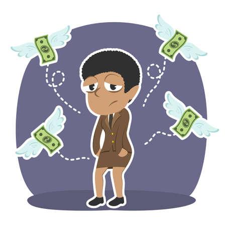 businesswoman ne pas pas que l & # 39 ; argent . illustration de