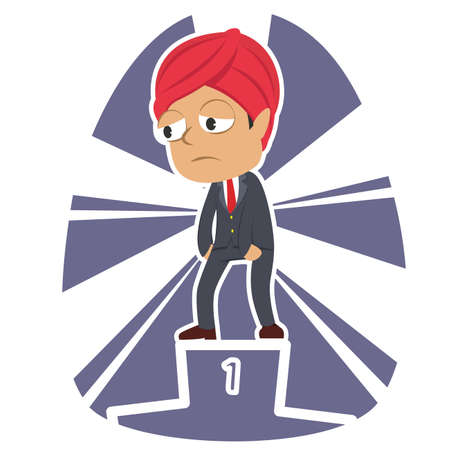 tired indian businessman dont care about be the champion