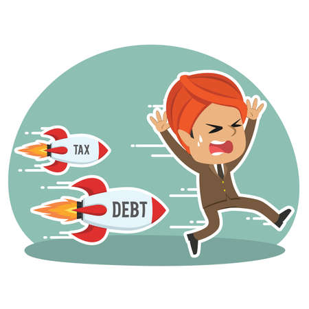 Indian businessman being chased by tax debt rocket