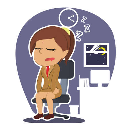 インドの実業家落下眠っているイラスト デザイン