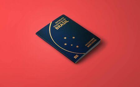Official Passport of Brazil, Brazilian Passport 写真素材