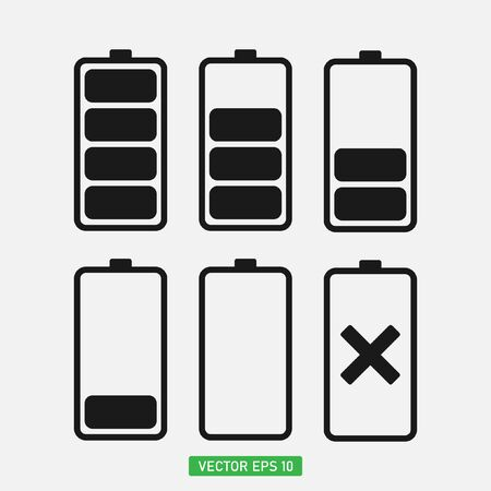 Energy battery icon,Battery charge level icons vector