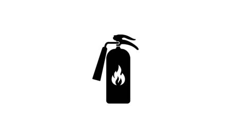 Red Fire extinguisher. Firefighters tools for flame fighting attention colored vector symbol for fire station,Fire extinguisher sign, vector illustration