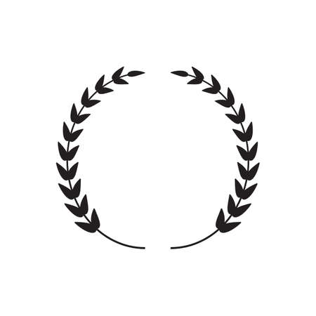 Black thin laurel Wreath Illustration