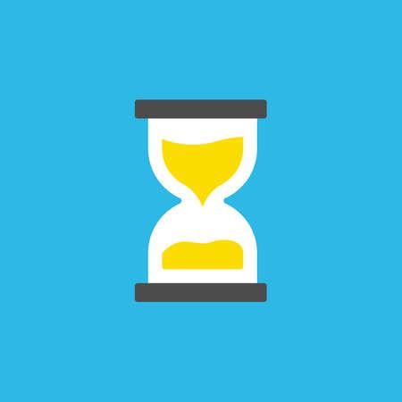 Sand time simple icon logo symbol vector download Vectores