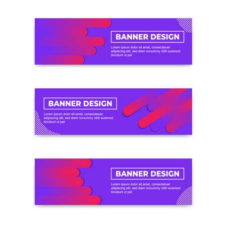 Trendy Modern abstract Banner design. Horizontal banner template in Eps 10