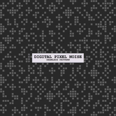 Digital seamless square black noise pattern Vetores