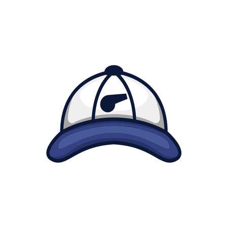 Blue coach trainer baseball hat icon logo illustration Logo