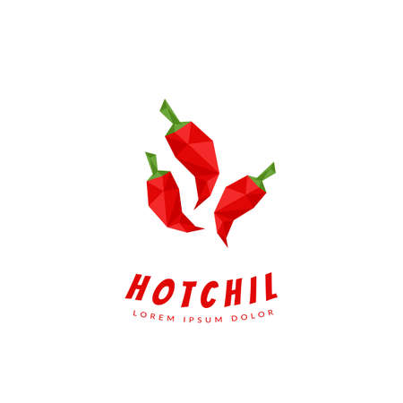 abstract red hot chili peppers logo icon symbol low poly style abstract red hot chili peppers logo icon symbol low poly style