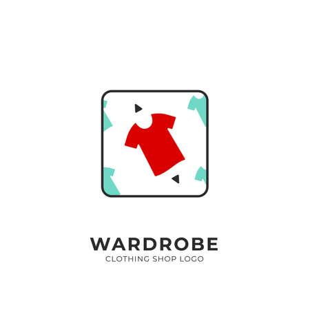 Wardrobe custom selection pick red clothing fashion shop logo badge square stamp