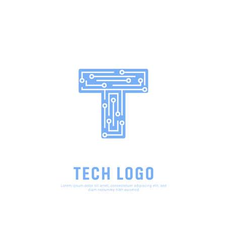 Future Tech logo symbol. Letter T technology icon symbol logo