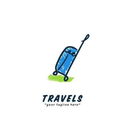 Travel shield protection agency logo icon with plane and shield silhouette symbol of safety