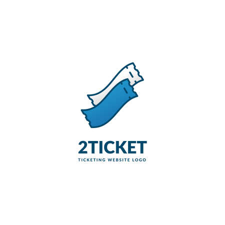 2 two ticket logo simple icon symbol for all in one ticketing service company