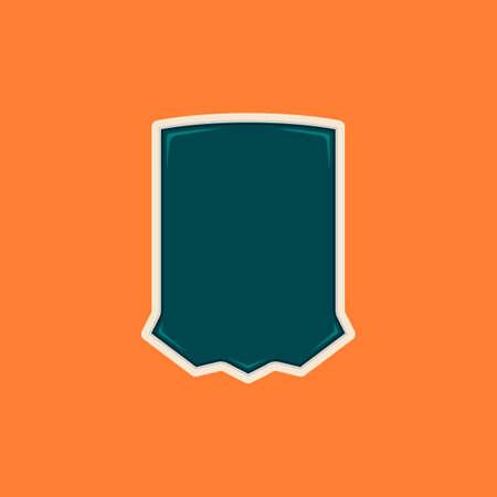 Unique blank shield badge shape Illustration