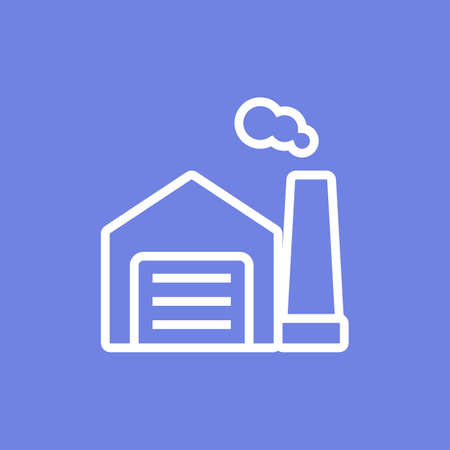 Simple factory or warehouse line icon