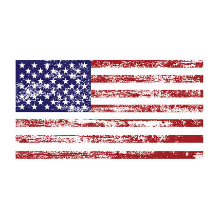 American usa flag with abstract grunge texture