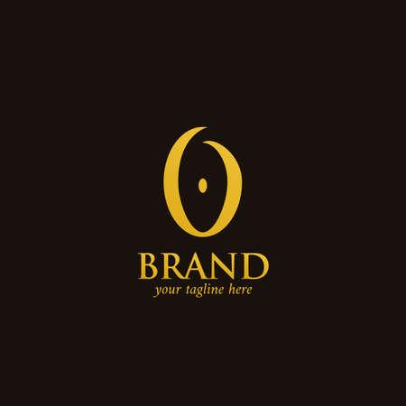 Letter O logo, abstract premium elegant classic O alphabet logo in gold color