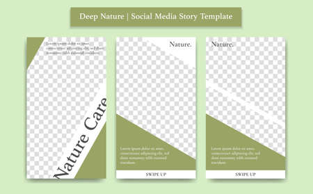 Green mud soft nature health care product social media story vector design template Иллюстрация