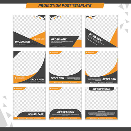 Modern product promotion elegant active and masculine bold social media post template set