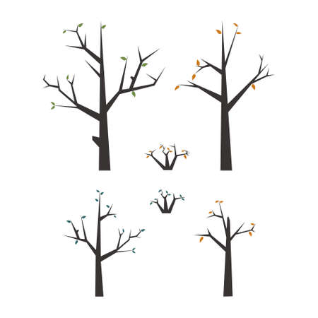 Set of vector dead tree on white isolated background Foto de archivo - 138241710