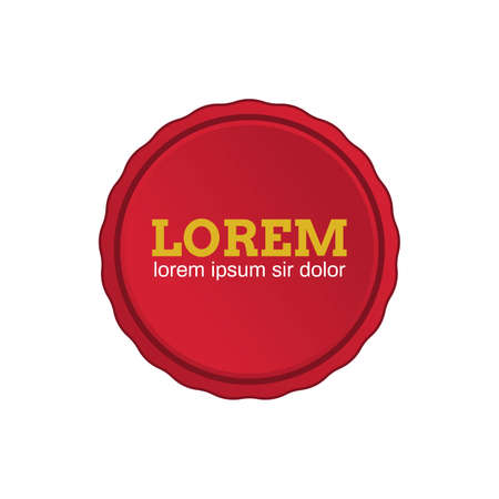 Red wax or cap seal badge template emblem for product promotion