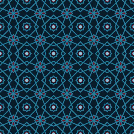 Islamic Middle East pattern in blue