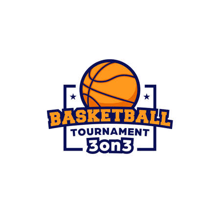 Basketball tournament 3 on 3 competition  icon symbol badge sport