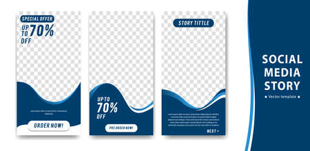Editable creative  social media story vector template for finance, trust business or promotion purpose with blue white color.