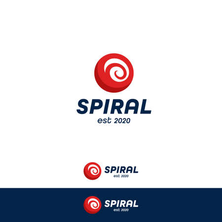 Red ball spiral helix simple logo icon symbol