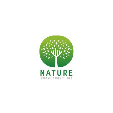 Nature green tree logo icon symbol simple vector design