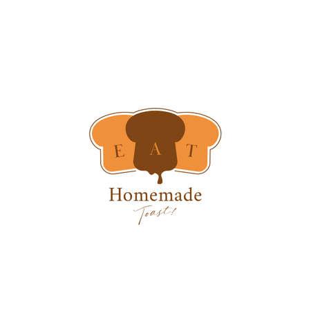 Toast bread bakery logo icon symbol in simple elegant premium logo style