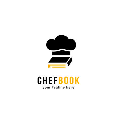 Chef book logo icon symbol simple negative space style