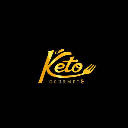 Keto Gourmet catering and restaurant manual hand lettering logo