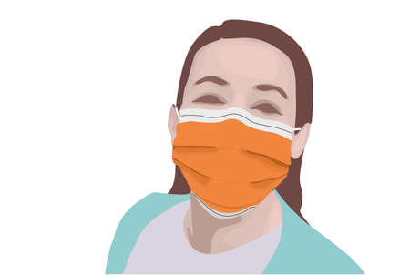 Nurses and doctors in hospitals use surgical masks as corona spreads all over the world while still smiling so they are not sad and depressed