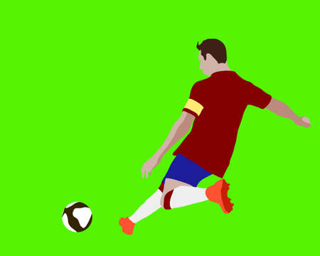 Soccer futsal Football Striker attacking player doing corner, penalty kick, free kick training exhibition match cup block human wall captain Illustration