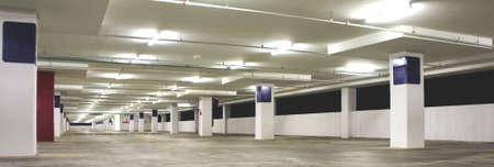 parking lot interior: Empty parking area