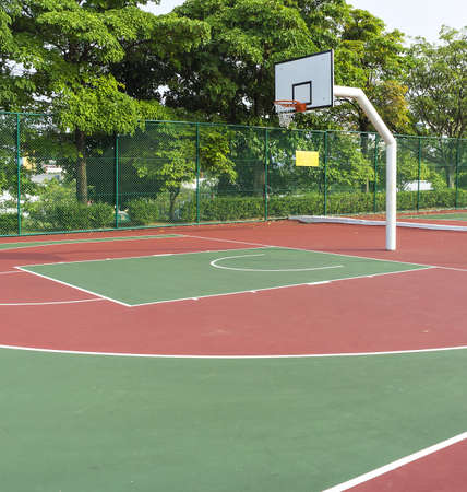 Outdoor public basket ball court Stock Photo